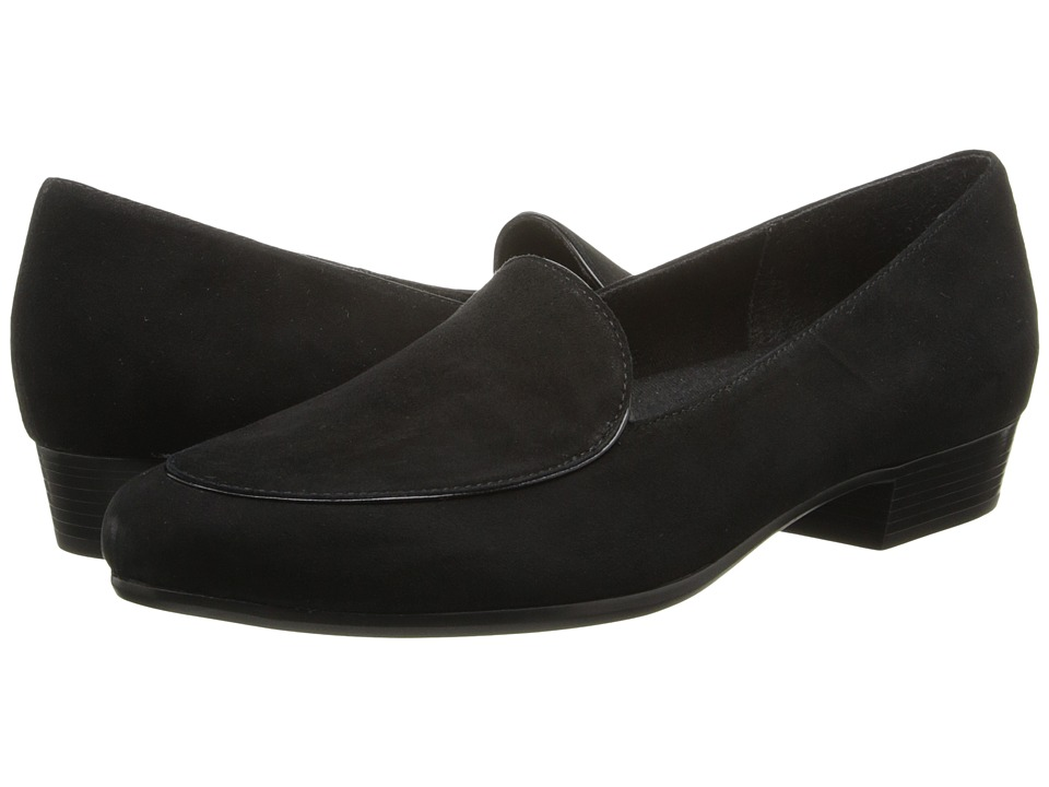 Munro - Mallory (Black Suede) Women's Slip on Shoes