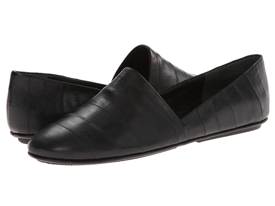 Vince - Bogart (Black Eel Skin) Women's Flat Shoes