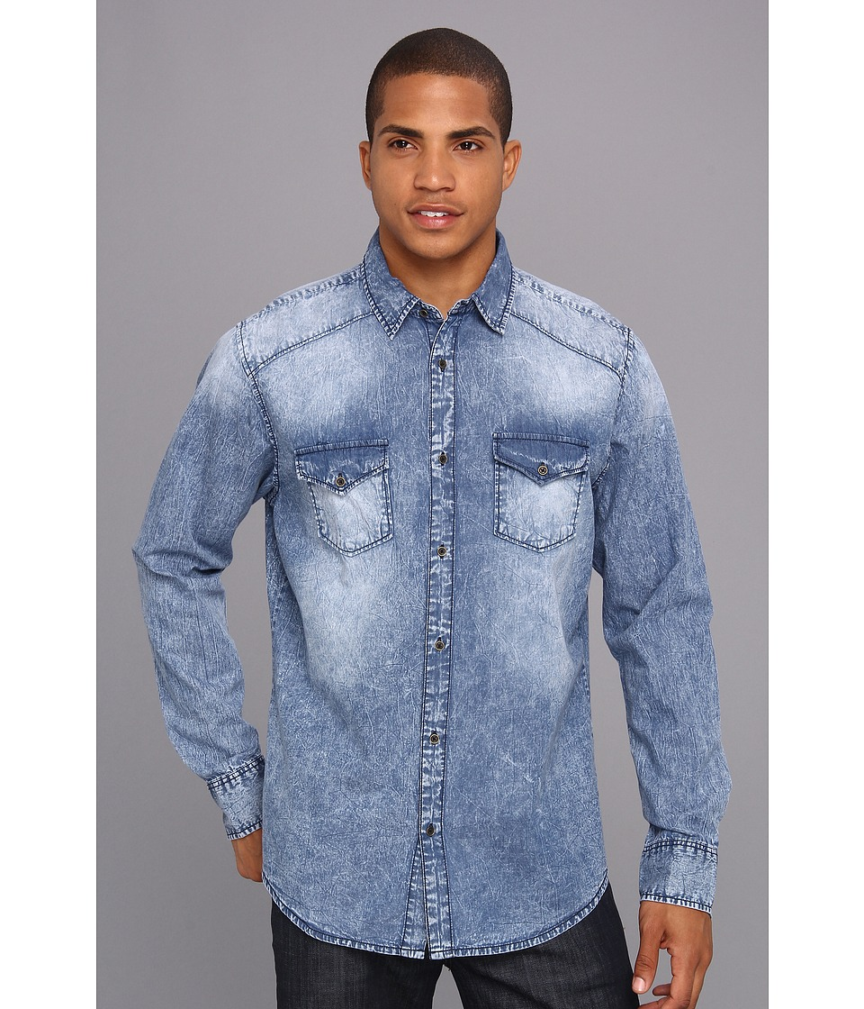 Sovereign Code - Stakehouse L/S Woven (Acid Wash) Men's Clothing