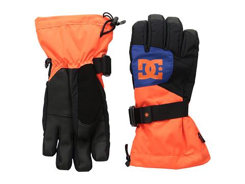DC - Seger Over Glove (Big Kids) (Shocking Orange) Extreme Cold Weather Gloves