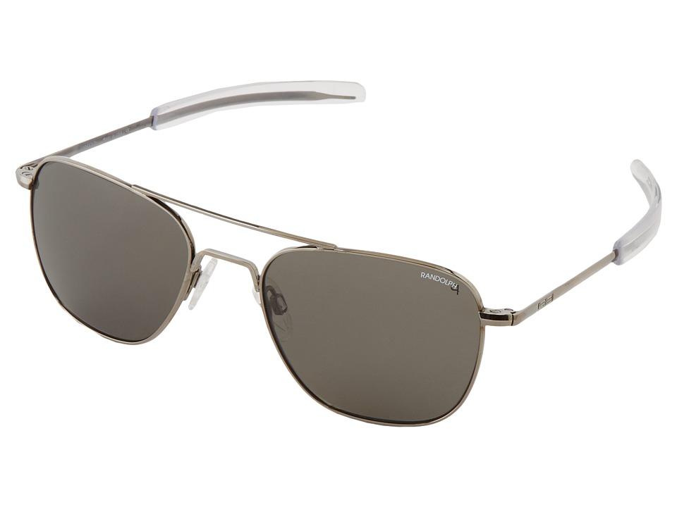 Randolph - Aviator 55mm Polarized (Gun Metal/Gray Polarized) Fashion Sunglasses