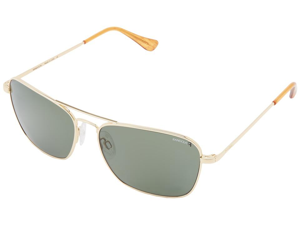 Randolph - Intruder 58mm Polarized (23k Gold Plated/AGX Polarized PC) Fashion Sunglasses