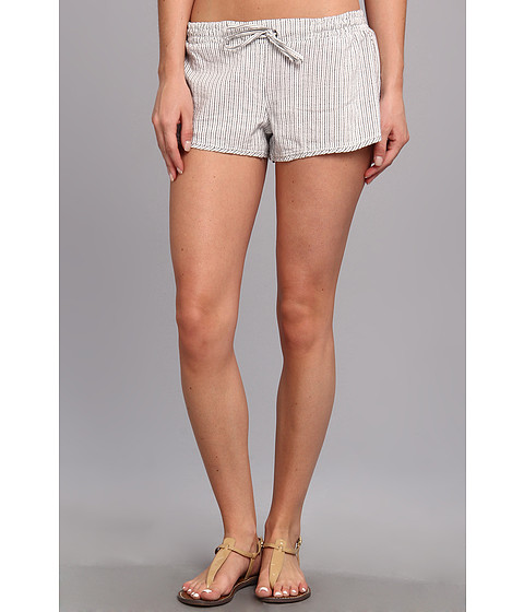 Hurley - Beachrider Tie Short (White Mini Stripe) Women's Shorts