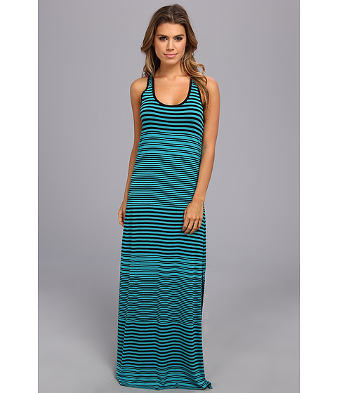 Vince Camuto - Adobe Stripe Tank Maxi Dress (Rich Teal) Women's Dress