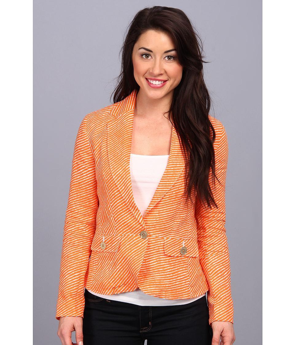 MICHAEL Michael Kors - Petite One Button Peplum Jacket (Poppy) Women's Jacket