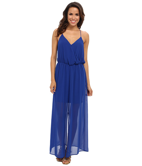 Vince Camuto - Chiffon Overlay Slit Maxi Dress (Sailor Blue) Women