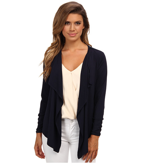 Vince Camuto - L/S Open Front Knit Cardigan (Blue Night) Women's Sweater