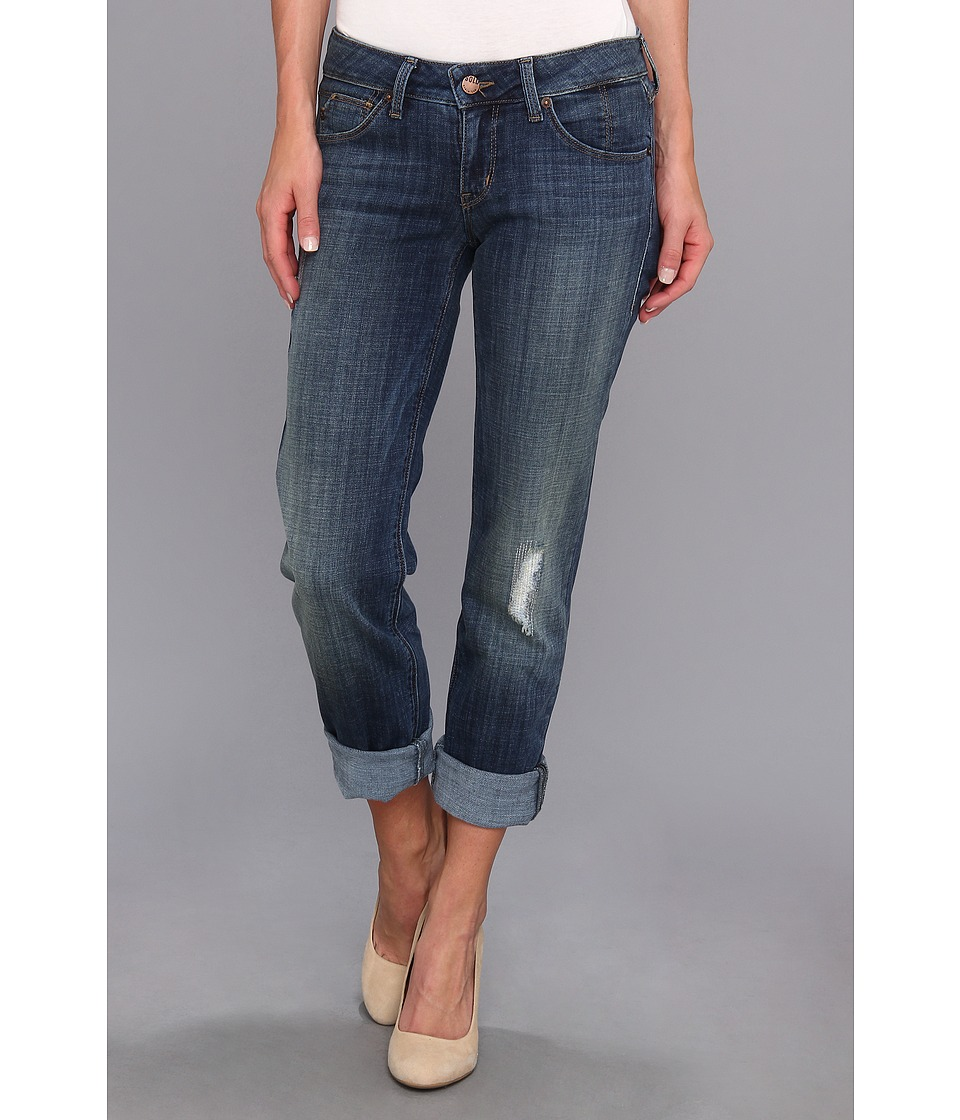 SOLD Design Lab - Rolled Boyfriend (Medium Wash) Women