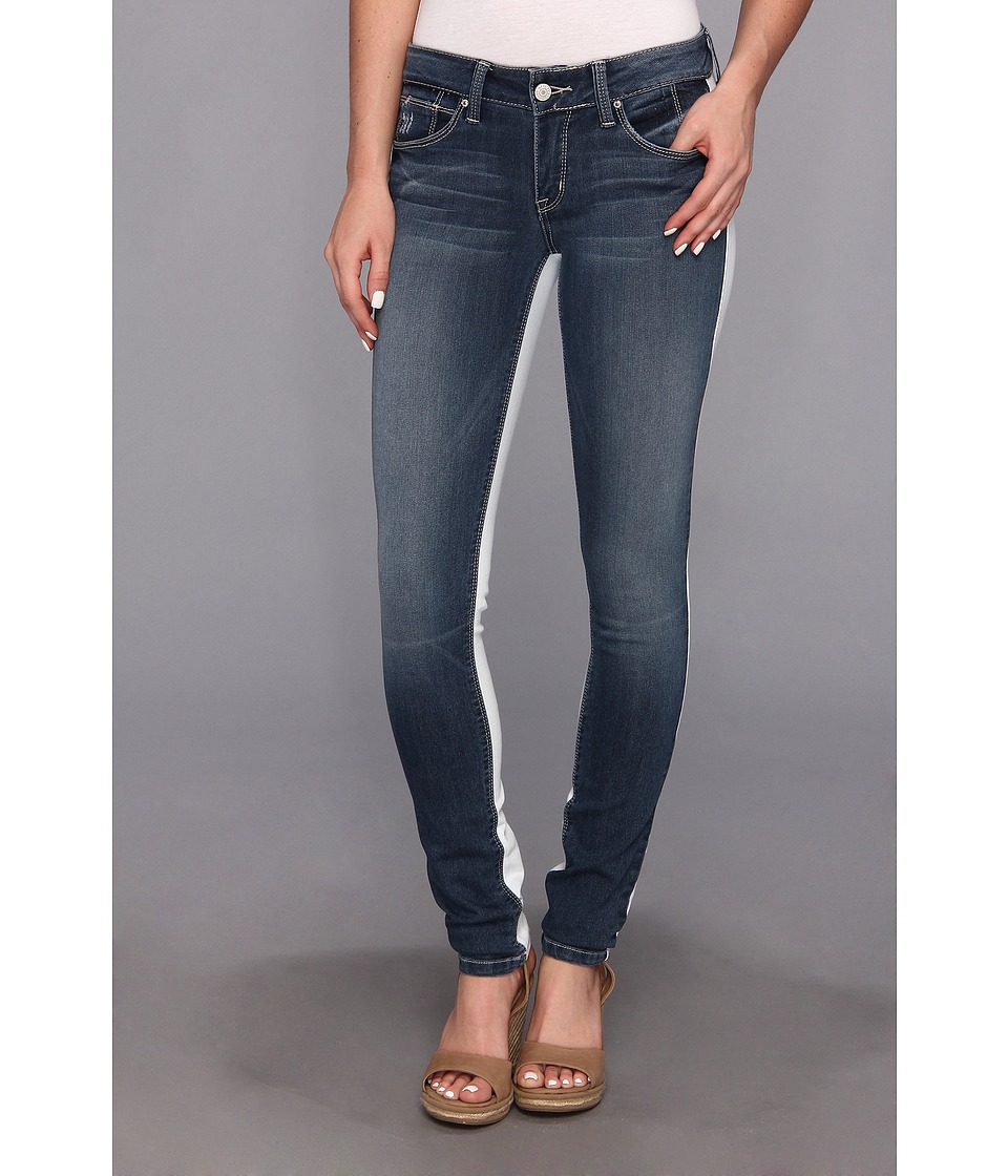 SOLD Design Lab - Soho Super Skinny Color Combo (Light Denim/White) Women