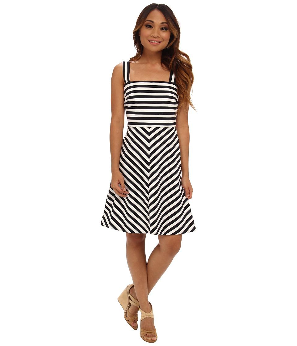 MICHAEL Michael Kors - Petite Miter Stripe Ponte Dress (Navy) Women's Dress