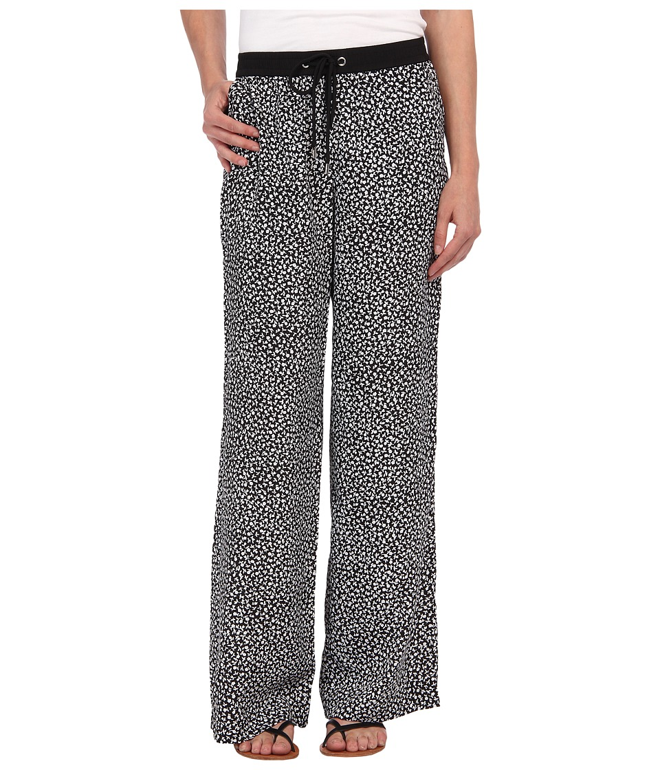 MICHAEL Michael Kors - Petite Easy Wide Leg Printed Pant (Black) Women's Casual Pants
