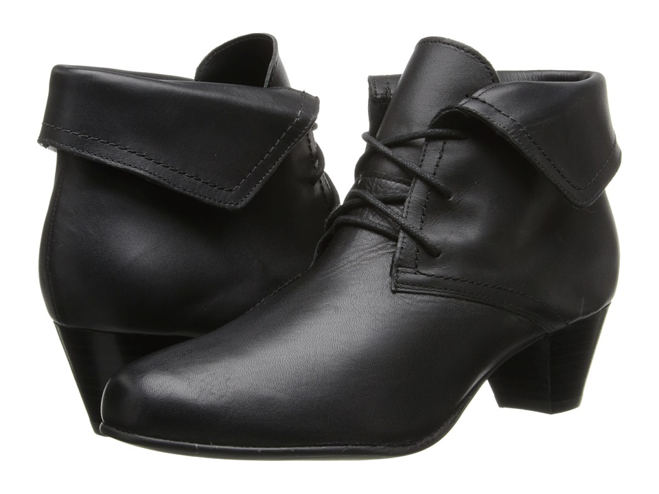David Tate - Angelica (Black Calfskin) Women's Wedge Shoes