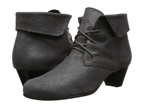 David Tate - Angelica (Grey Antique Leather) Women's Wedge Shoes