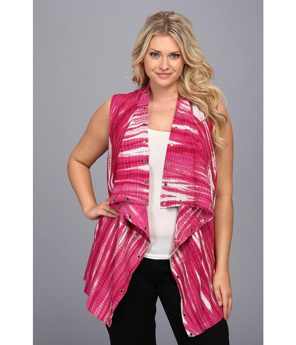 MICHAEL Michael Kors - Plus Size Drape Front Vest (Radiant Pink) Women's Vest