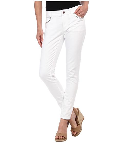 MICHAEL Michael Kors - Petite Rivet Stud Skinny Jean in White (White) Women's Jeans