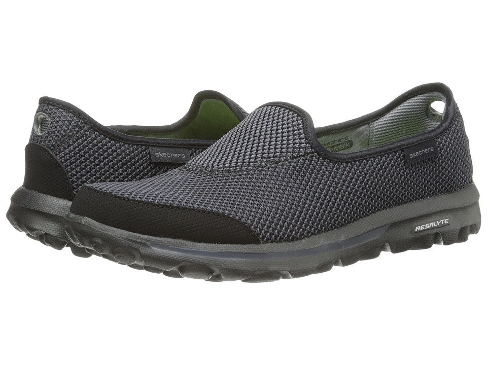 SKECHERS Performance - Go Walk - Rival (Black) Women's Slip on Shoes