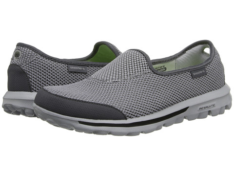 SKECHERS Performance - Go Walk - Rival (Charcoal) Women's Slip on Shoes