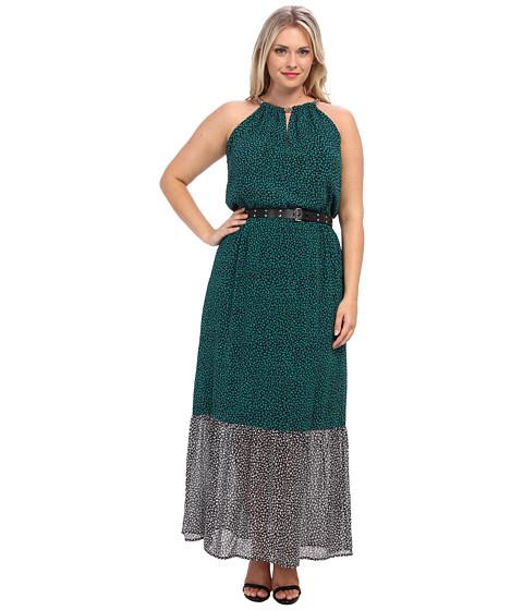 MICHAEL Michael Kors - Plus Size Meadow Maxi Chain Dress (Island Blue/Black) Women's Dress