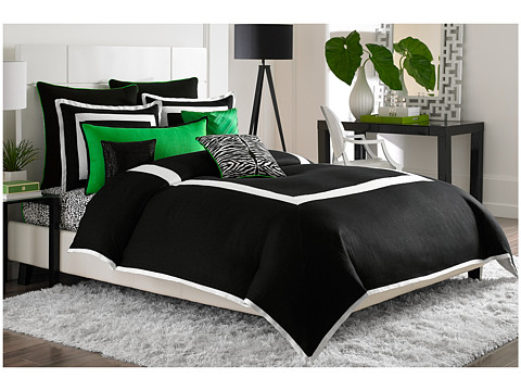 Vince Camuto - Monte Carlo King Comforter Mini Set (Black/White) Sheets Bedding
