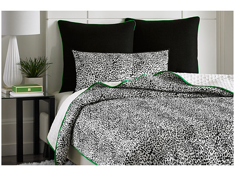 Vince Camuto - Monte Carlo Printed Coverlet - King (Black/White) Sheets Bedding