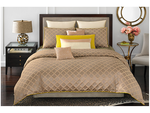 Vince Camuto - Marseille King Comforter Mini Set (Gold) Sheets Bedding