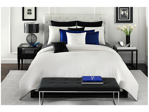 Vince Camuto - Milan King Comforter Mini Set (White) Sheets Bedding