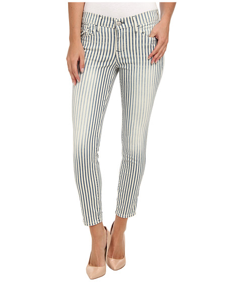True Religion - Serena Super Skinny Crop in Aye Blue Stripe (Aye Blue Stripe) Women