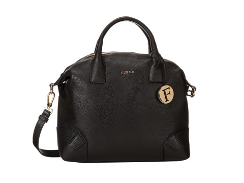 Furla Arcadia Medium Satchel (Onyx) Satchel Handbags