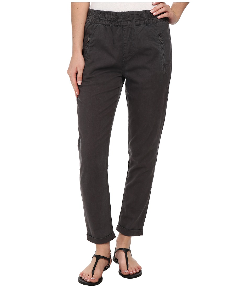 7 For All Mankind - Soft Pant With Cuffed Hem in Grey Enzyme Twill (Grey Enzyme Twill) Women