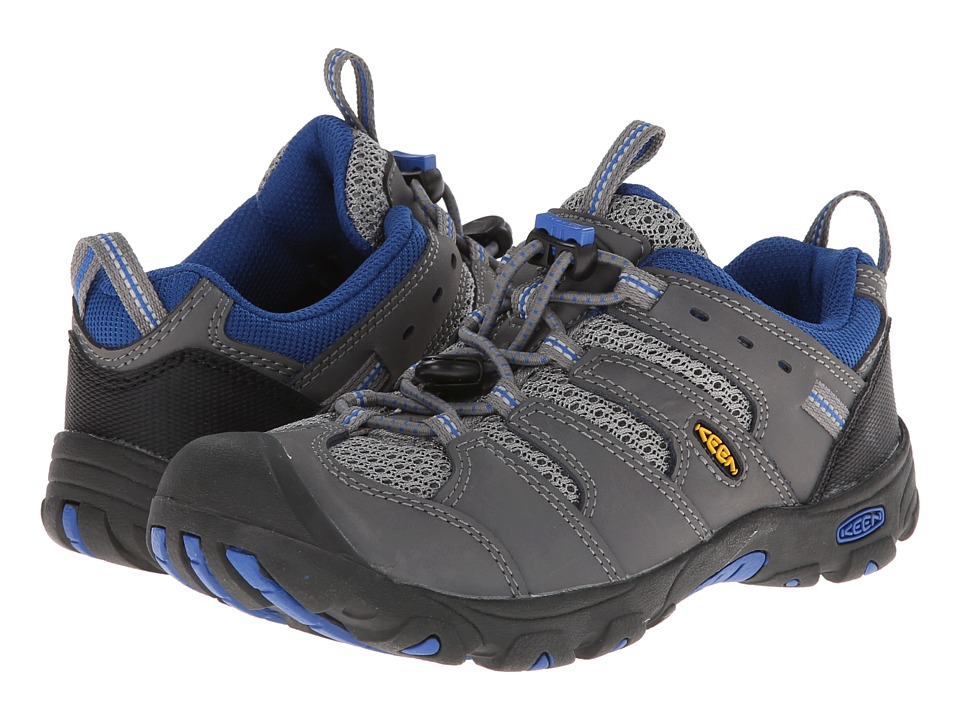 Keen Kids - Koven Low (Little Kid/Big Kid) (Gargoyle/Strong Blue) Boy's Shoes