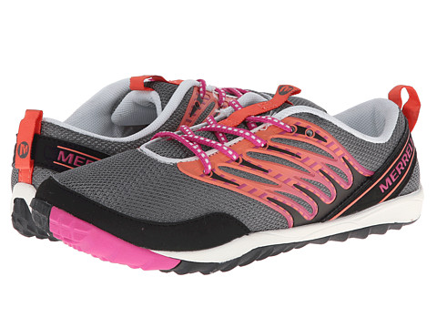 Merrell Kids - Trail Glove Lace 2.0 (Big Kid) (Grey/Pink) Girls Shoes