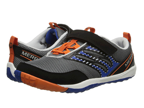 Merrell Kids - Trail Glove Strap 2.0 (Little Kid) (Grey/Orange) Boys Shoes