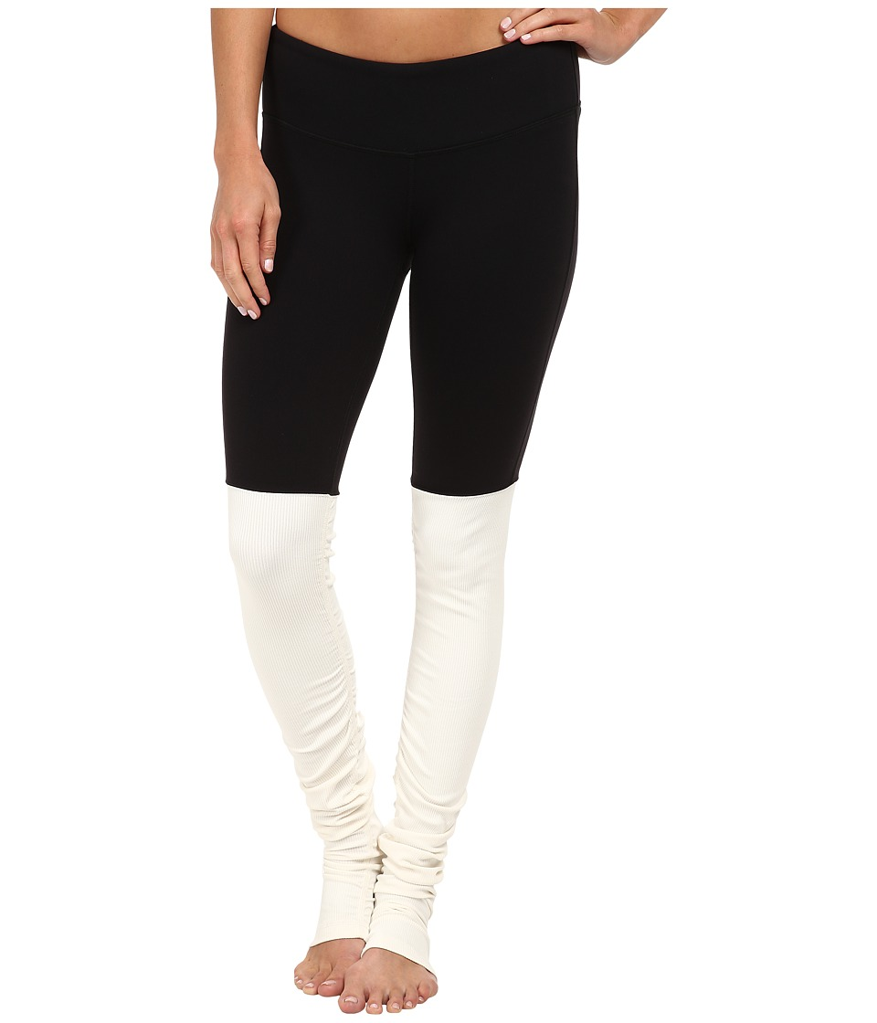ALO - Goddess Ribbed Legging (Black/Natural) Women's Workout