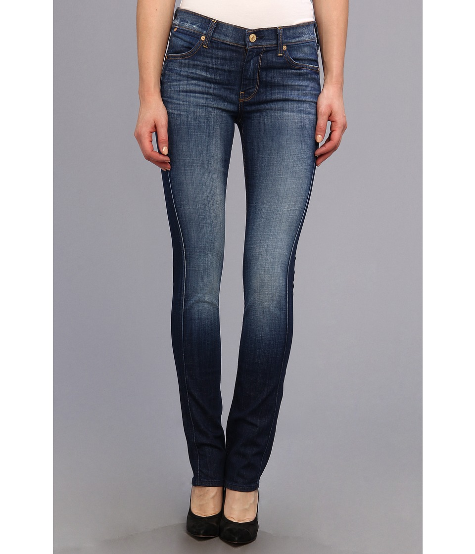 7 For All Mankind - Modern Straight in Aggressive Heritage Blue (Aggresive Heritage Blue) Women