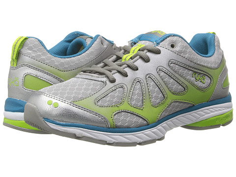Ryka - Fanatic Plus (Chrome Silver/Forge Grey/Diver Blue/Lime Blaze) Women's Running Shoes