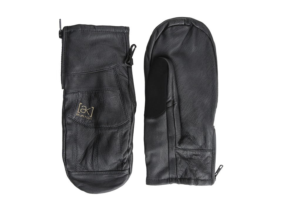 Burton - [ak] Leather Tech Mitt (True Black) Extreme Cold Weather Gloves