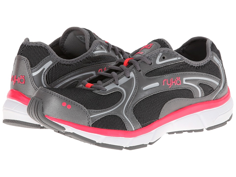 Ryka - Prodigy 2 Stretch (Black/Steel Grey/Coral Rose/Chrome Silver) Women's Shoes