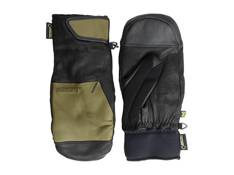 Burton - Gondy Leather Mitt (True Black/Hickory) Extreme Cold Weather Gloves