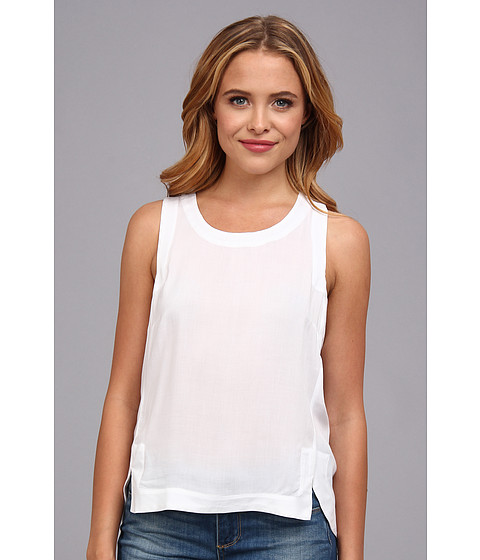 BCBGeneration - Angled Tank (White) Women's Sleeveless