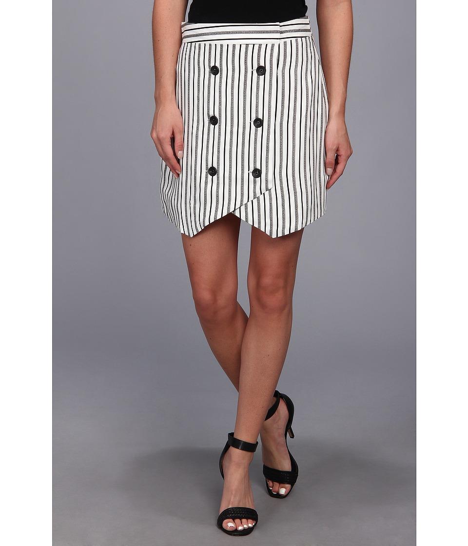 BCBGeneration - Button Front Skirt (Off White Combo) Women's Skirt