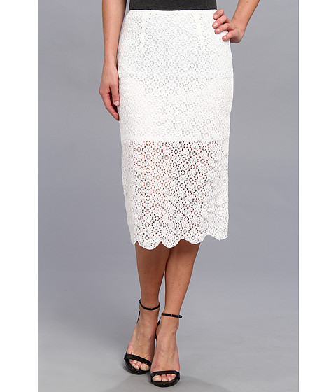 BCBGeneration - Midi Pencil Skirt (White) Women's Skirt