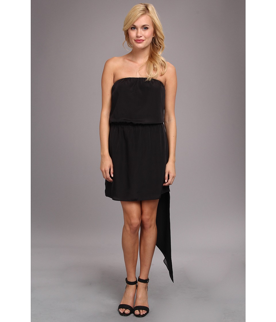 BCBGeneration Asymmetrical Hem Strapless Dress (Black) Women
