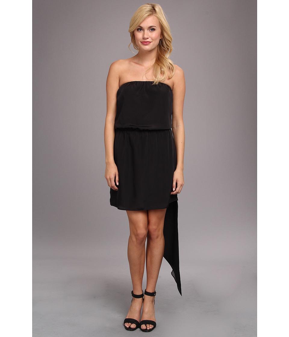 Image of BCBGeneration - Asymmetrical Hem Strapless Dress (Black) Women's Dress