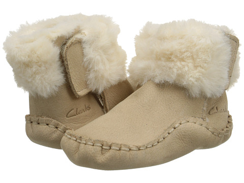Clarks Kids - Baby Cuddle Medium (Infant) (Cream) Boy's Shoes