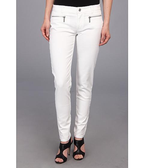 MICHAEL Michael Kors - Petite Color Skinny Jean w/ Zip in White/Silver (White/Silver) Women