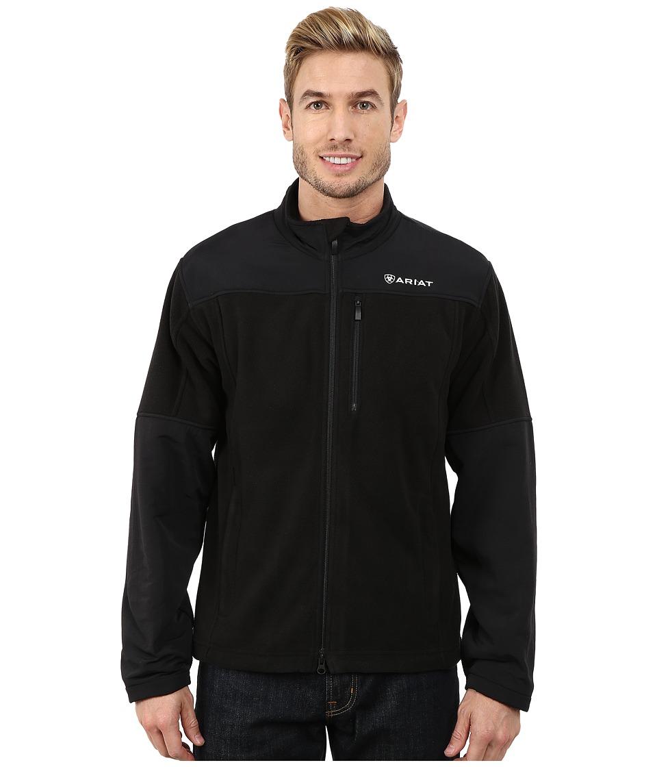 Ariat - Crescent Fleece Jacket (Black) Men