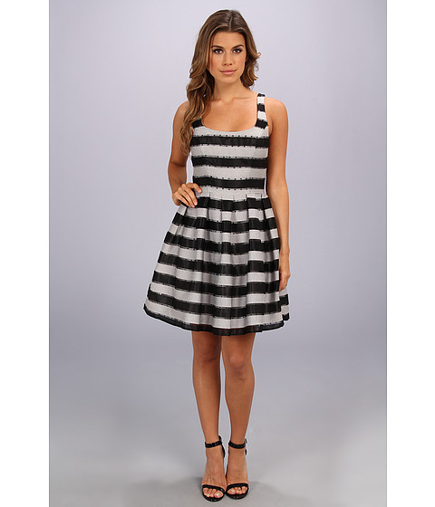 ABS Allen Schwartz - Claire Stripe Dress (Black) Women