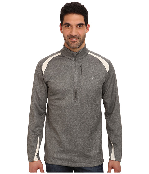 Ariat - Duo Mesh 1/4 Zip (Charcoal Heather) Men