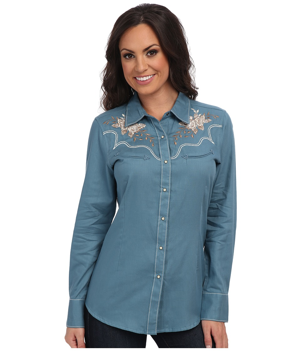 Ariat - Santa Rosa Snap Shirt (Blue Slate) Women's Long Sleeve Button Up