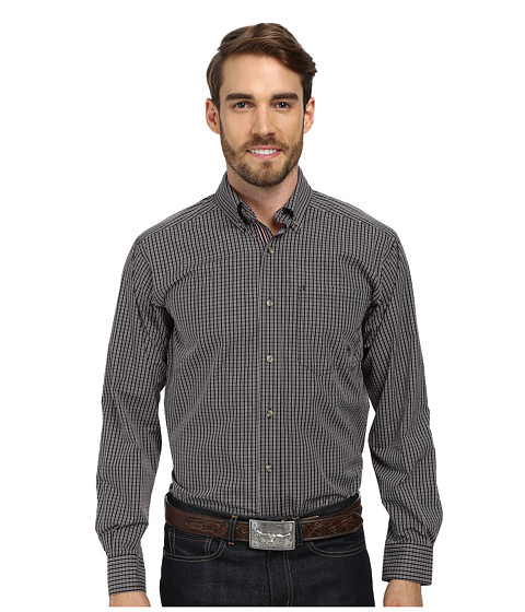 Ariat - Hank Shirt (Black) Men's Long Sleeve Button Up